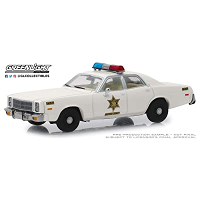 Greenlight 86558 1: 43 1977 Plymouth Fury - Hazzard County Sheriff: Toys & Games