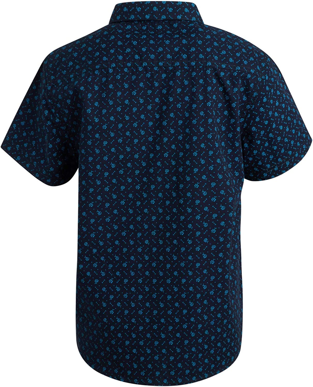 Perry Ellis Boys/' Short Sleeve Button Down Printed Shirt