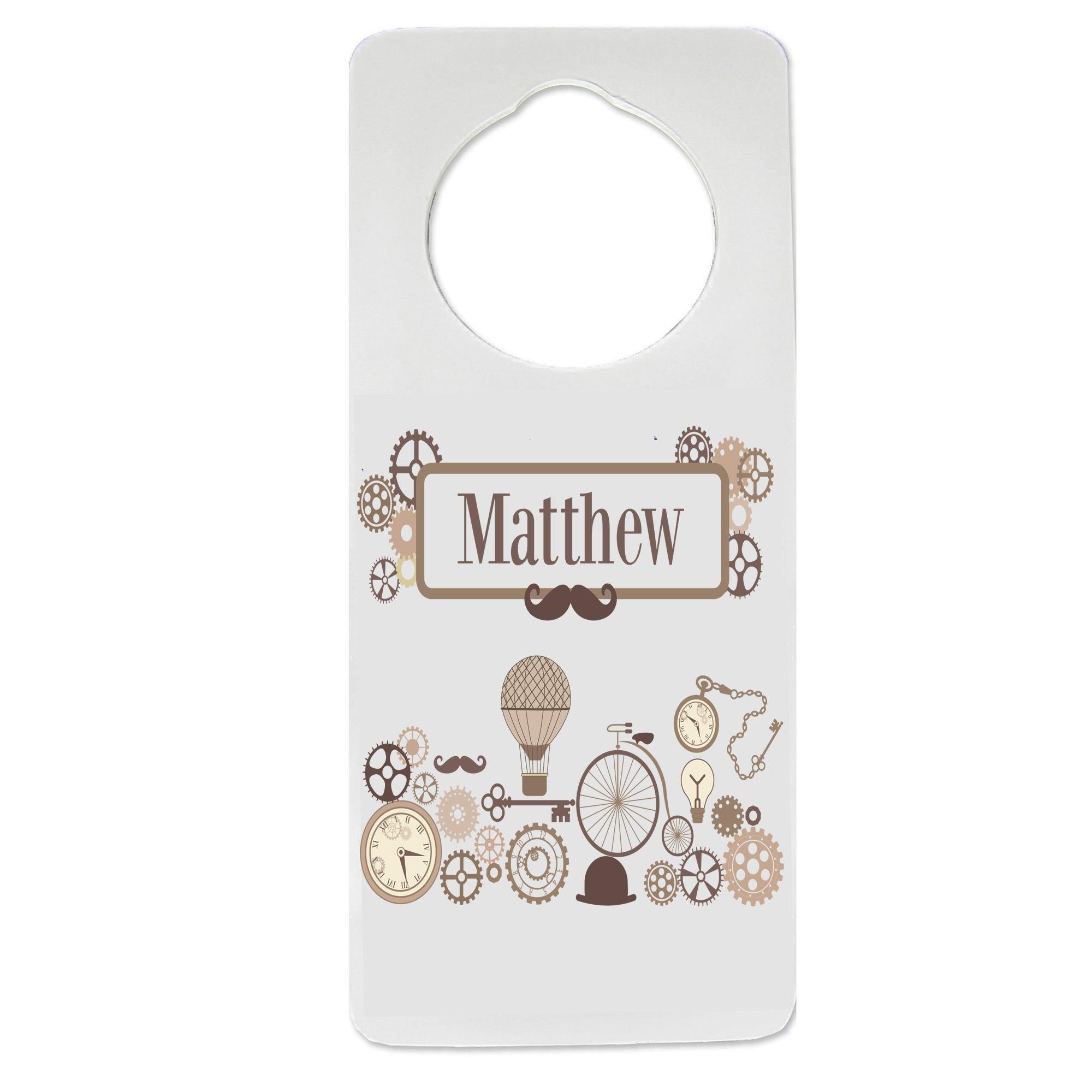 Personalized Steampunk Nursery Door Hanger