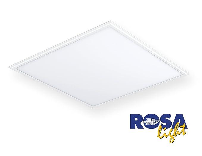 Plafoniera Led Luce Fredda : Plafoniera a led 60x60cm corpo in alluminio bianco 40w luce fredda