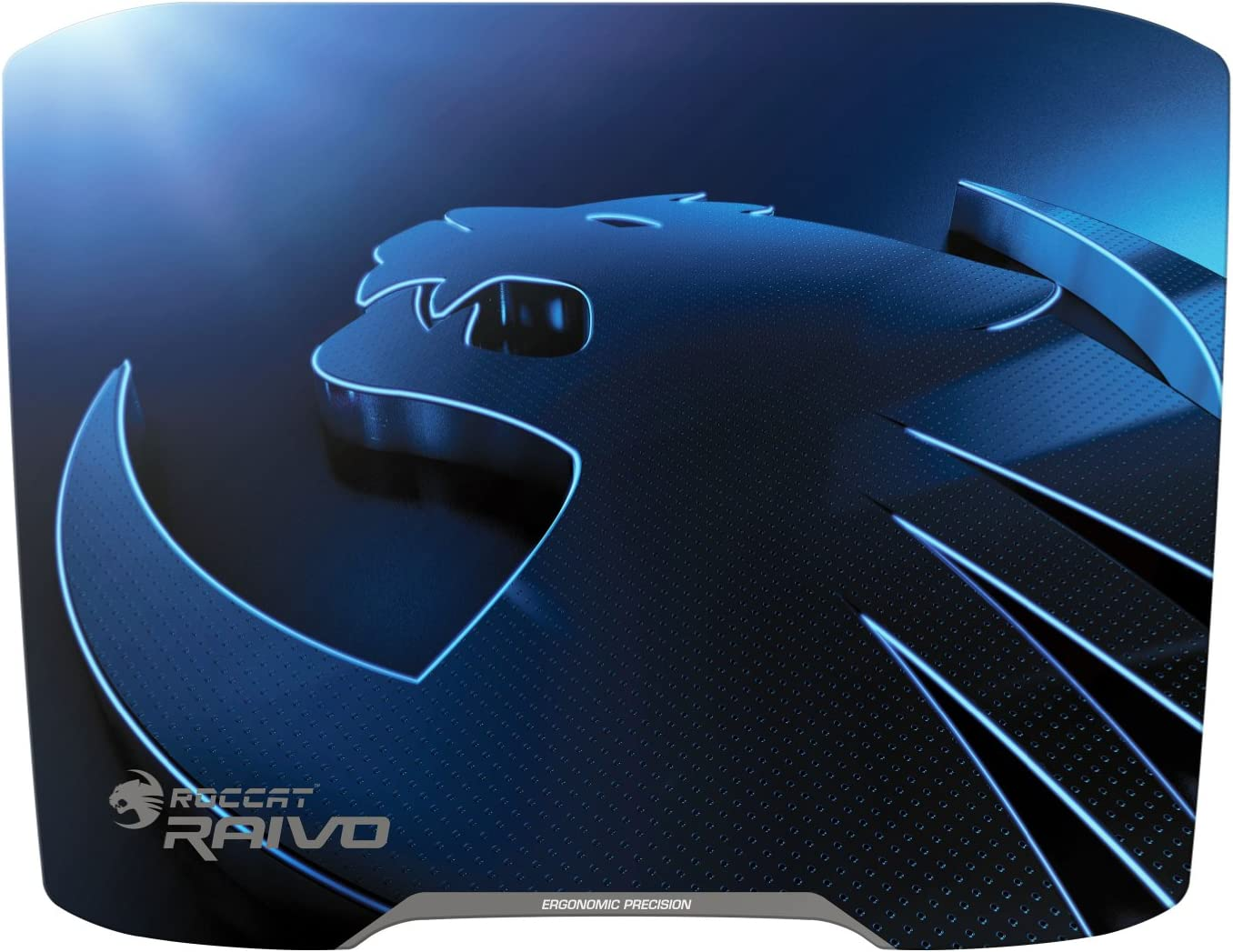ROCCAT RAIVO 2mm High-Velocity Ergonomic Gaming Mousepad, Lightning Blue