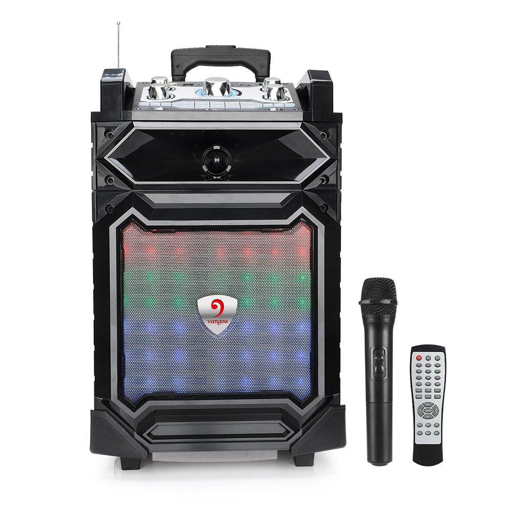 Vangoa K18 Rechargeable Wireless Bluetooth Speakers Sound XBS Bass System, Recording Ability, MP3/USB/TF/FM Radio/Karaoke Function