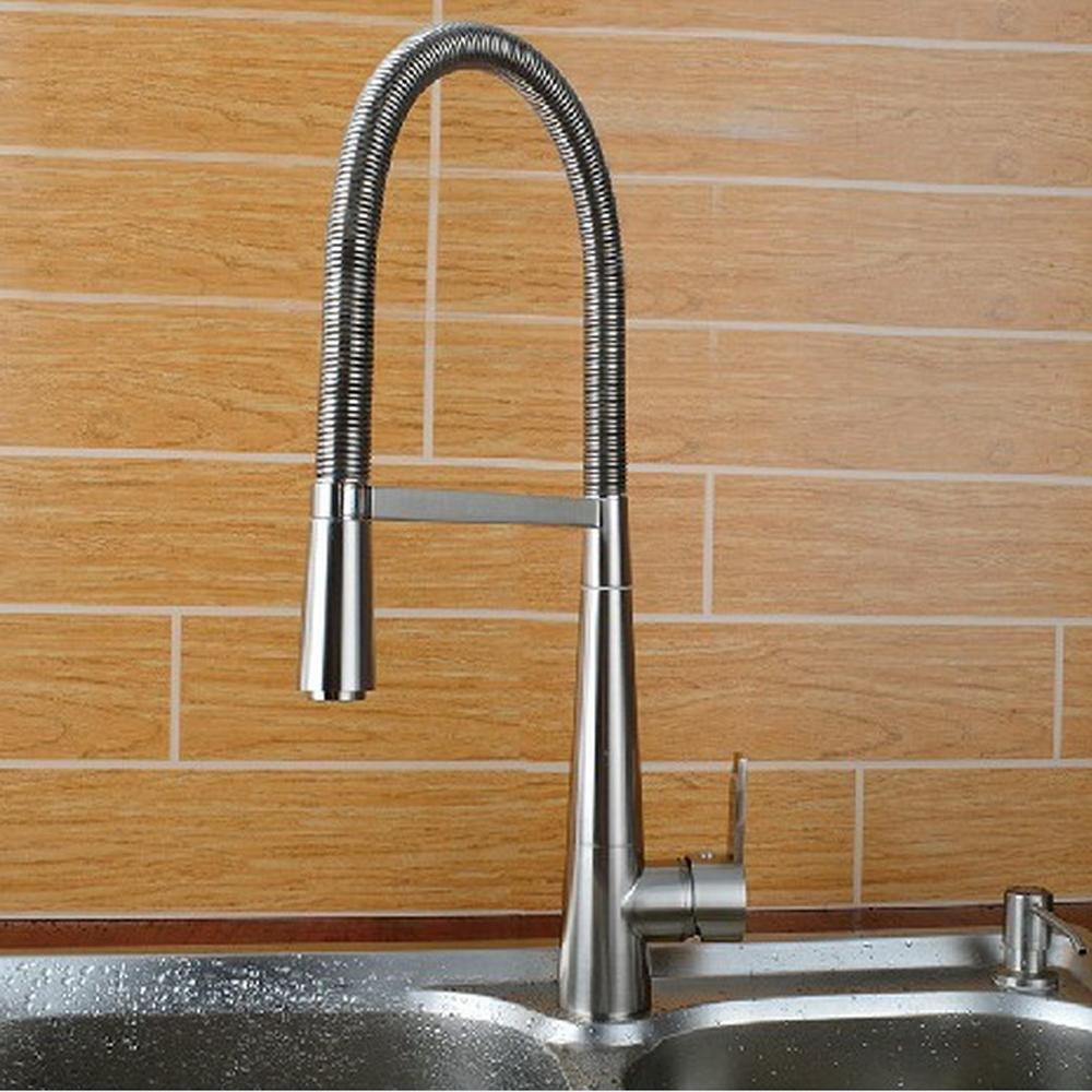 AllureFeng Alle Kupfer   kalt   Loch   Drehschwenk Zeichnung   Stretching   Küche   Waschbecken   Hahnfeder