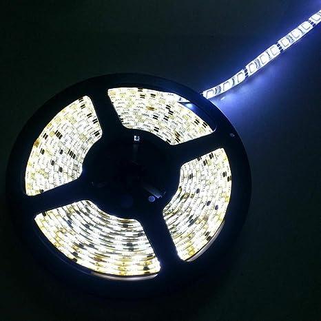 5M 5050 300LEDs Strip Stripe Streifen Band Leiste Lichterkette Warmweiß IP20 24V