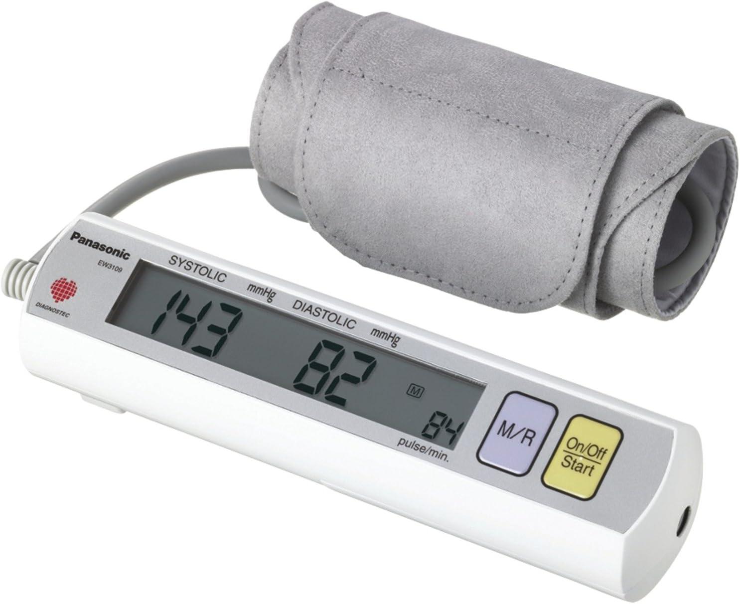 Panasonic EW3109W Portable Upper Arm Blood Pressure Monitor White Grey