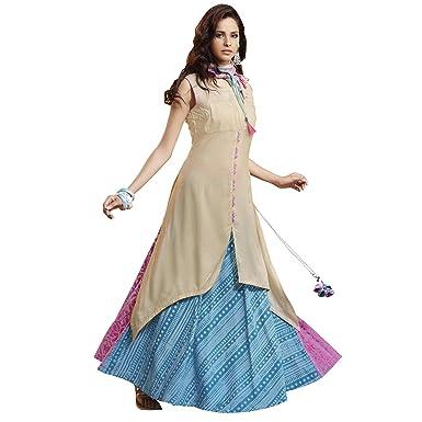 e7bf2fc505f Payal Womens Sleeveless Off white Kurta, Sharara and Multicoloured Dupatta:  Amazon.in: Clothing & Accessories