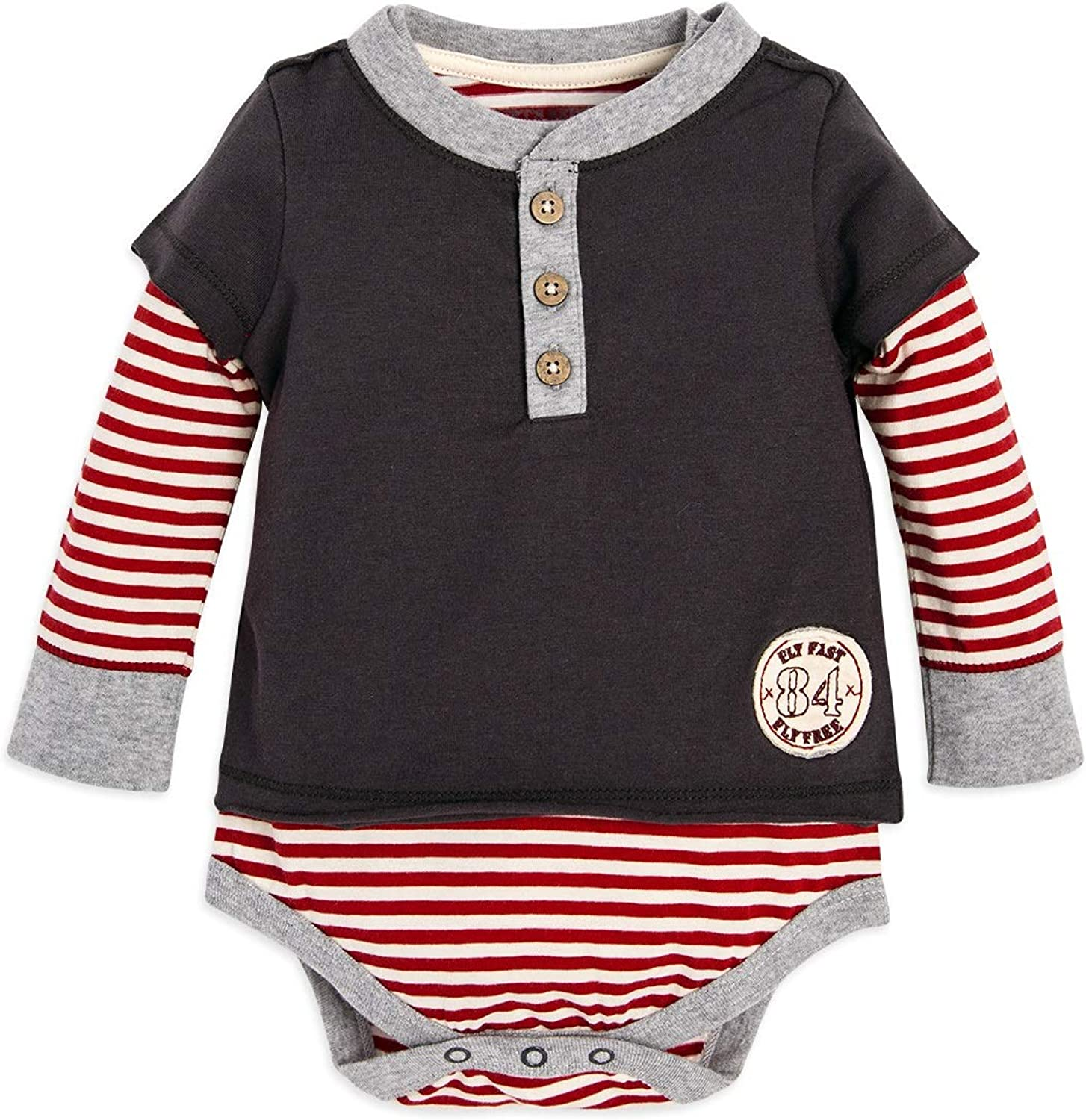 100/% Organic Cotton 5-Pack Short /& Long Sleeve One-Pieces Burts Bees Baby Unisex Baby Bodysuits