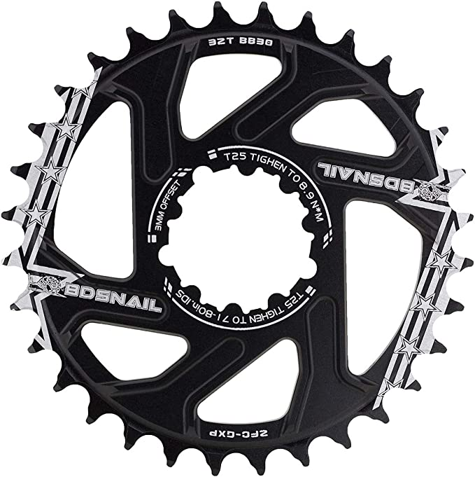 GXP 6mm 32-38T Direct Mount Narrow Wide Chainring MTB Bike Chainset Sprocket CNC