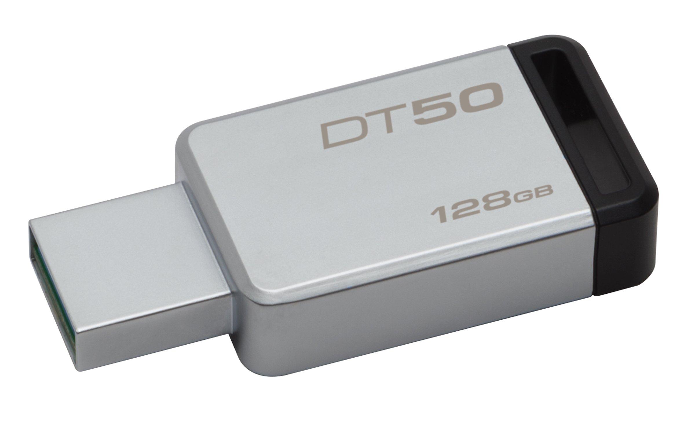 Kingston DataTraveler 128GB USB 3.0 Flash Drive (Gray) product image