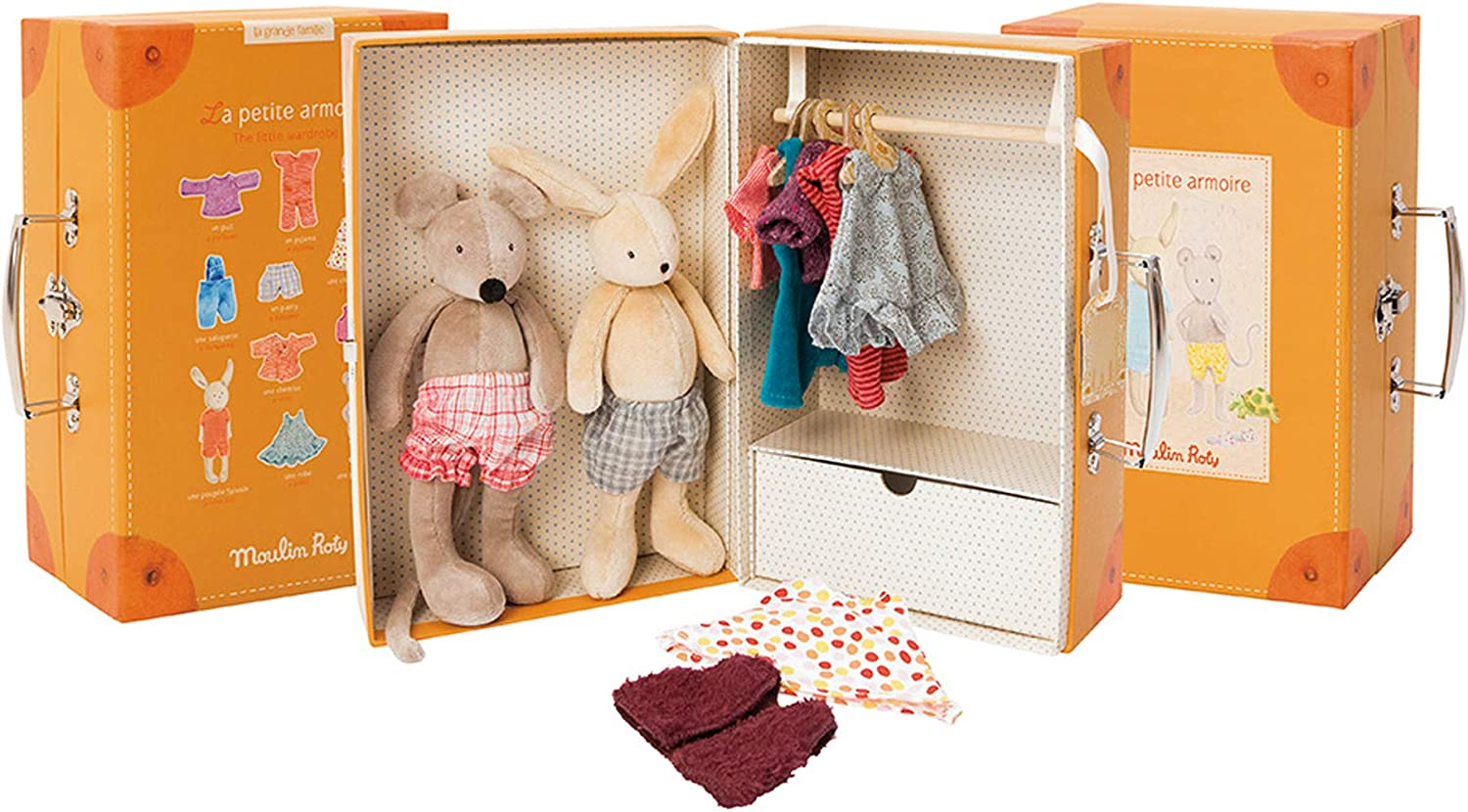 Moulin Roty La Grande Famille The Little Wardrobe Suitcase 71yufaTFZYLSL1500_