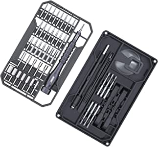 Precision Screwdriver Set, JAKEMY 73 in 1 S2 Screwdriver Bits Repair Tool Kit Electronics Magnetic Driver Kit with Flexible Shaft for iPhone/Android Phone/Tablet/PC/MacBook