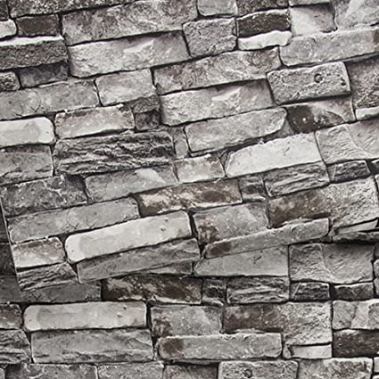 Brick Wallpaper Stone Textured Removable And Waterproof For Home
