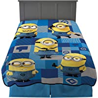 """Franco Kids Bedding Blanket, Twin/Full Size 62"""" x 90"""", Despicable Me Minions"""