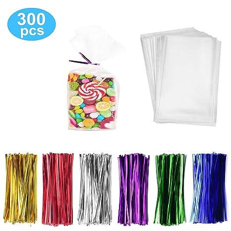 Amazon.com: Paquete de 300 bolsas para dulces de violonchelo ...
