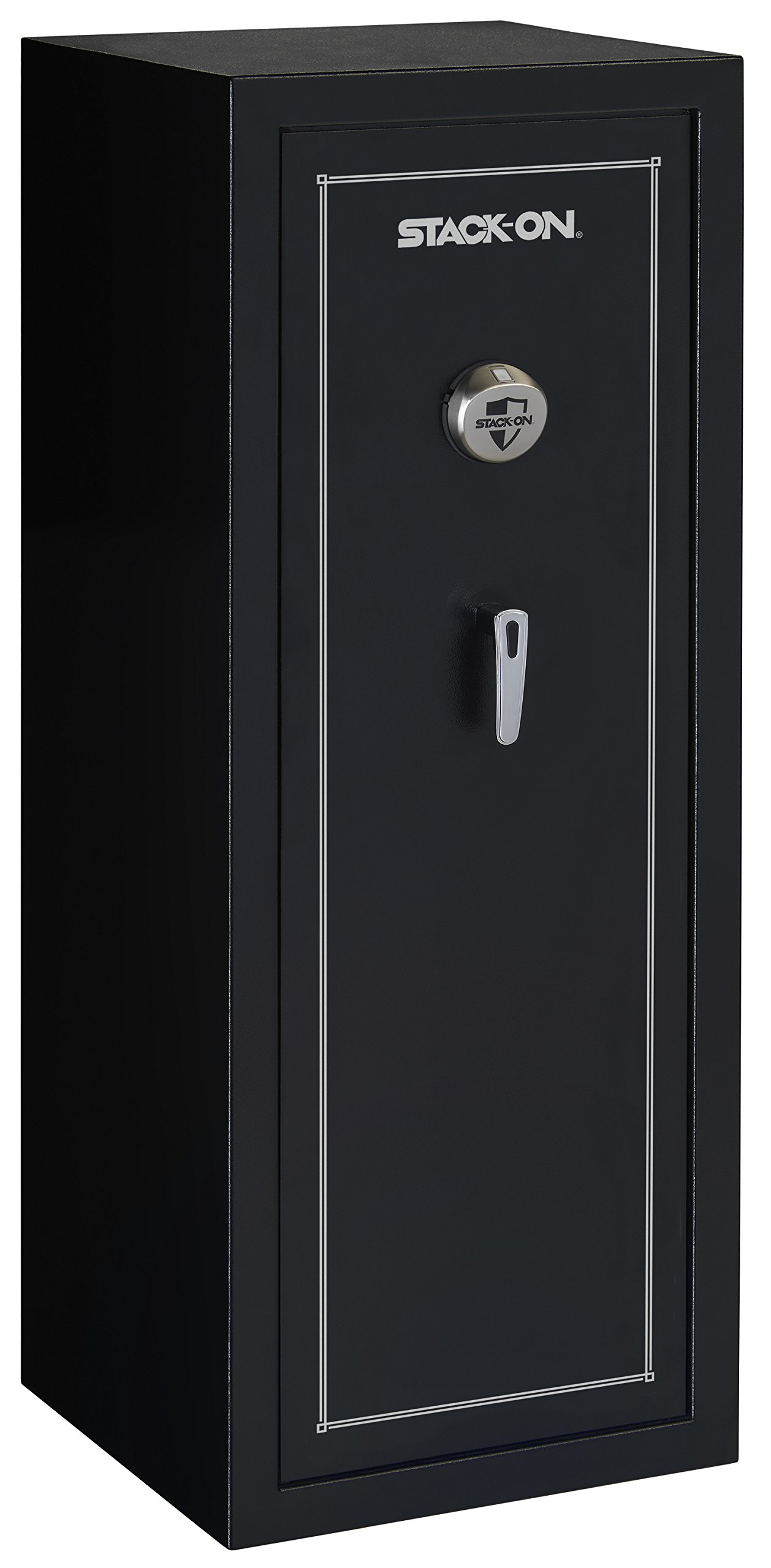 Stack-On SS-16-MB-B 16-Gun Security Safe with Biometric Lock, Matte Black by Stack-On