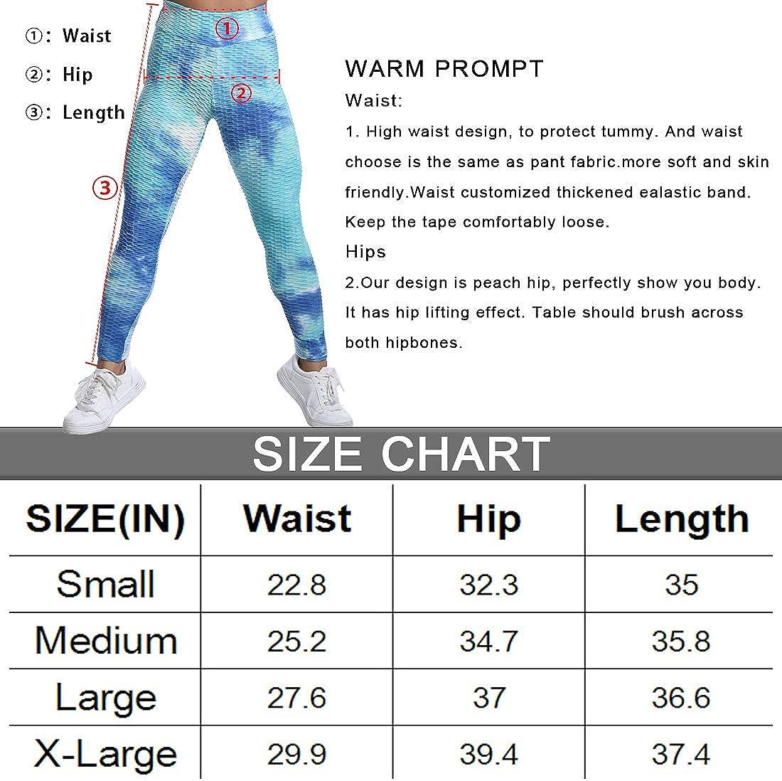 Generies Tie-Dye High Waist Yoga Pants for Womens Scrunch Butt Textured Leggings Workout Sport Gym Yoga Tights