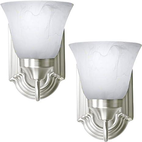 2 Pack Of Bennington Luna Wall Sconce Light Fixture Single Light Vanity Lights Brushed Nickel
