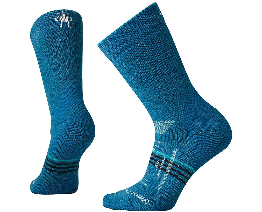 SmartWool Women's PhD Outdoor Heavy Crew Socks (Glacial Blue) Large by Smartwool