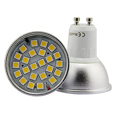 4 Unidades Bombilla LED Dimmable Standard GU10, 7 W correspondientes a 55 W, Luz
