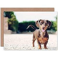 Greetings Card Birthday Gift Animal Dog Puppy Cute