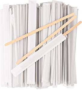 1000Pcs Disposable Wood Paper Wrapped Coffee Stirrers 7.5 Inch - Individually Wrapped Coffee Stirrings, Paper Wrapped Coffee Sticks for Coffee, Tea and Craft Projects