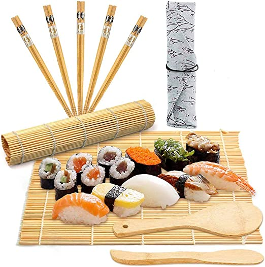 BESTZY 10pcs Kit para Hacer Sushi de Bambú Preparar Sushi Fácil Y ...
