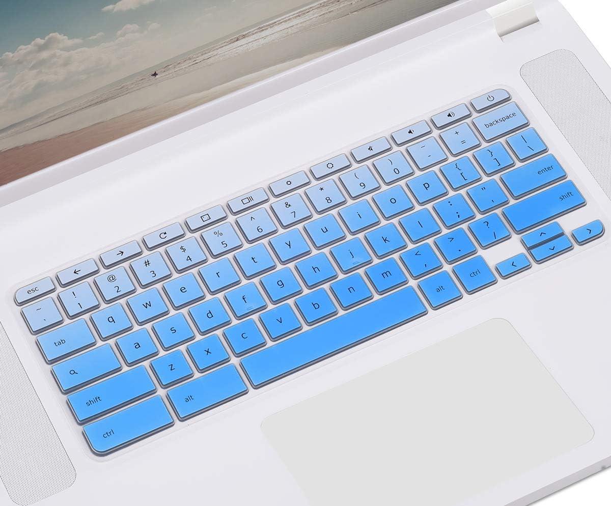 CASEDAO Keyboard Cover for Acer 15.6 inch Chromebook 15 Model CB3-531 CB3-532 CB5-571 CP315 CB515 C910   Chromebook Spin 15 CP315   Acer Chromebook R 11 CB3-131 CB5-132T CB5-132T - Gradual Blue