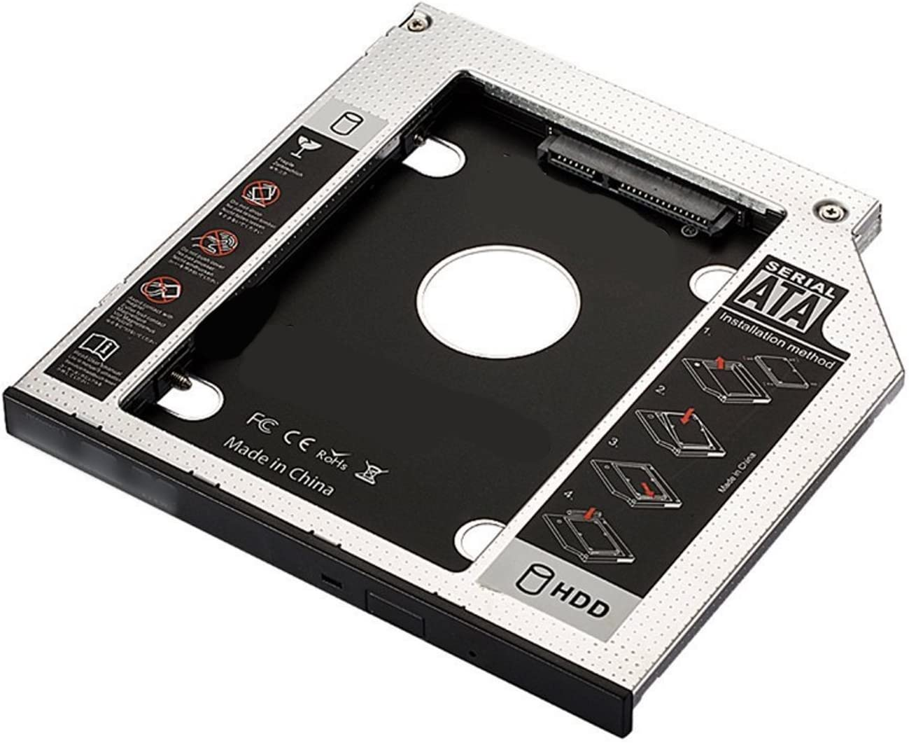 SATA III SSD/HDD Caja de instalación en Optical bahìa CD/DVD/BLU ...