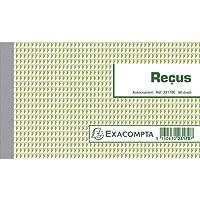 EXACOMPTA 23170E Manifolds recus 50 FEUILLETS DUPLI AUTOCOPIANTS 105 x 180 mm