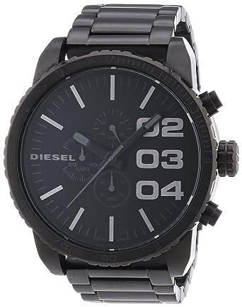 5a113036b63a Diesel - DZ4207 - Montre Homme - Quartz Analogique - Cadran Noir - Bracelet  Acier Inoxydable