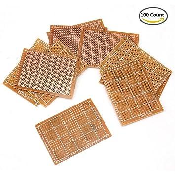 amazon com akoak 5 x 7 cm solder finished prototype pcb for diy rh amazon com