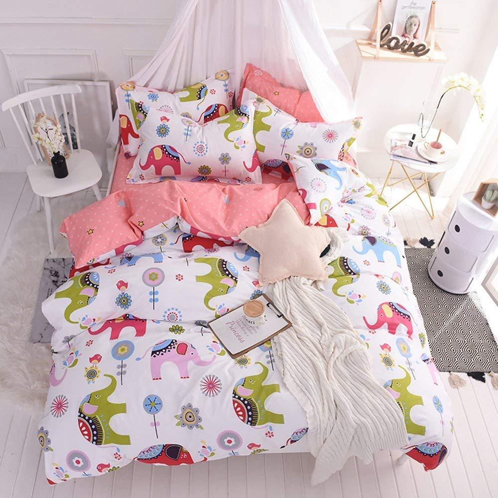 Teen Bedding Sets Full Size for Girls Toddler Kids Women 2 Shams + 1 Comforter Cover 3 Pcs Striped Bed Set Queen//Full ORBT23-4Q Cartoon Unicorn OTOB Cartoon 100/% Cotton Duvet Cover Set Queen Pink