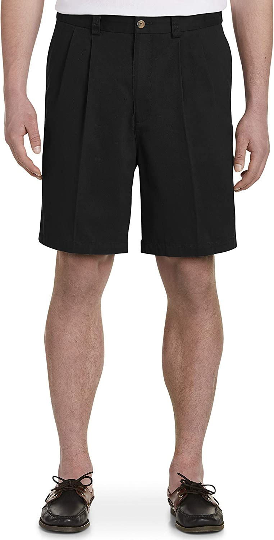 B0001SLIHA Harbor Bay by DXL Big and Tall Waist-Relaxer Pleated Shorts 71yut3qqR5L