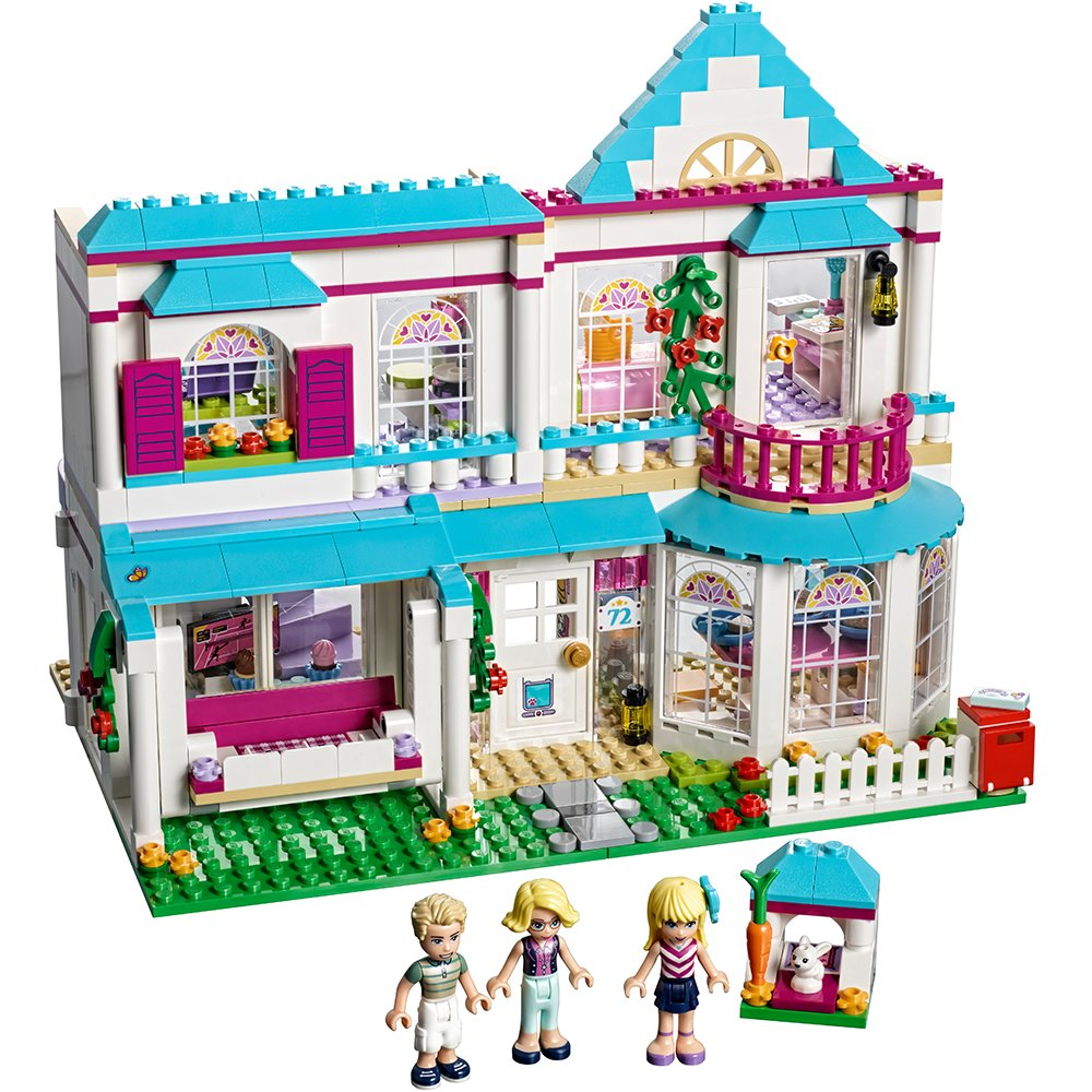 LEGO Friends Stephanie's House 41314 Build and Play Toy House with Mini Dolls, Dollhouse Kit (622 Pieces) by LEGO