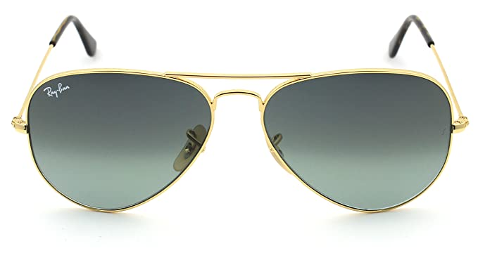 a1f2fe73fb7f01 Ray-Ban RB3025 181 71 Unisex Aviator Sunglasses Gradient (Gold Frame   Grey