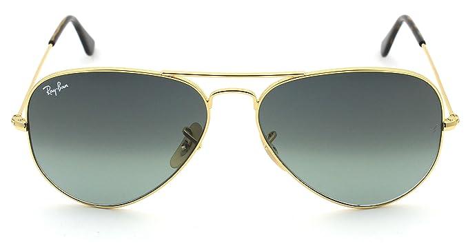 656d3bf9b Amazon.com: Ray-Ban RB3025 181/71 Unisex Aviator Sunglasses Gradient (Gold  Frame / Grey Gradient Lens 181/71, 58): Clothing