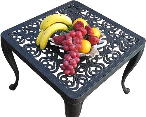 Perris Collection Cast Aluminum Corner Table