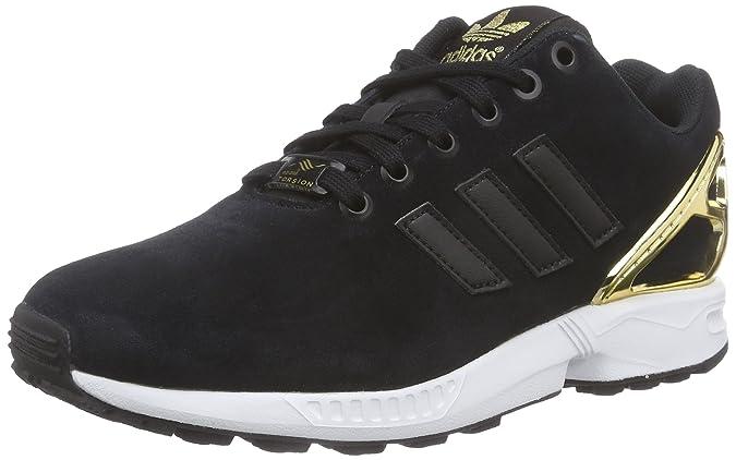 373ee2994f62d adidas Originals Women s ZX Flux Trainers Black Schwarz (Core Black Core  Black Gold Met.) 9  Amazon.co.uk  Shoes   Bags