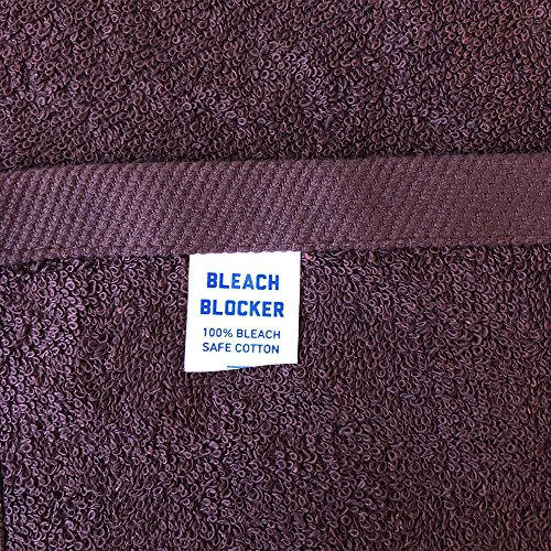 Bleach-Safe Professional Salon Towels |100% Cotton| Large 16'' x 28'' Towel | 12 Pack, 6 colors| Perfect for Hair Drying, Salon, Gym, Spa, Bath, Tanning(Eggplant) by Arkwright, LLC (Image #1)