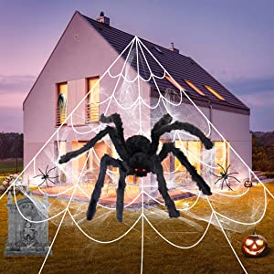 COCEQUC Halloween Spider Decorations 200