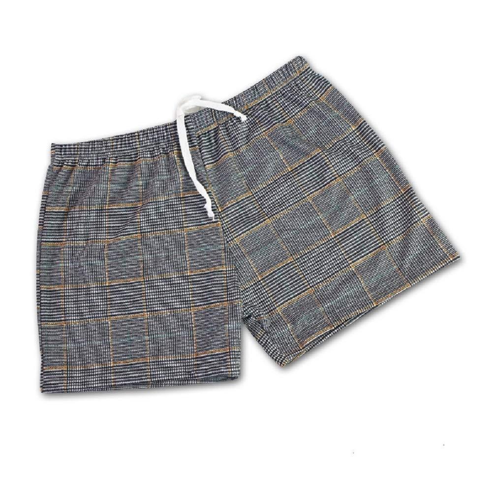 Youthny Herren Schlafanzughose Pyjamahose Schlafanzug Kurz Baumwolle Einfarbig Boxer Boxershorts Atmungsaktiv Unterhose Schlafen Shorts Hose Pants Einfarbig