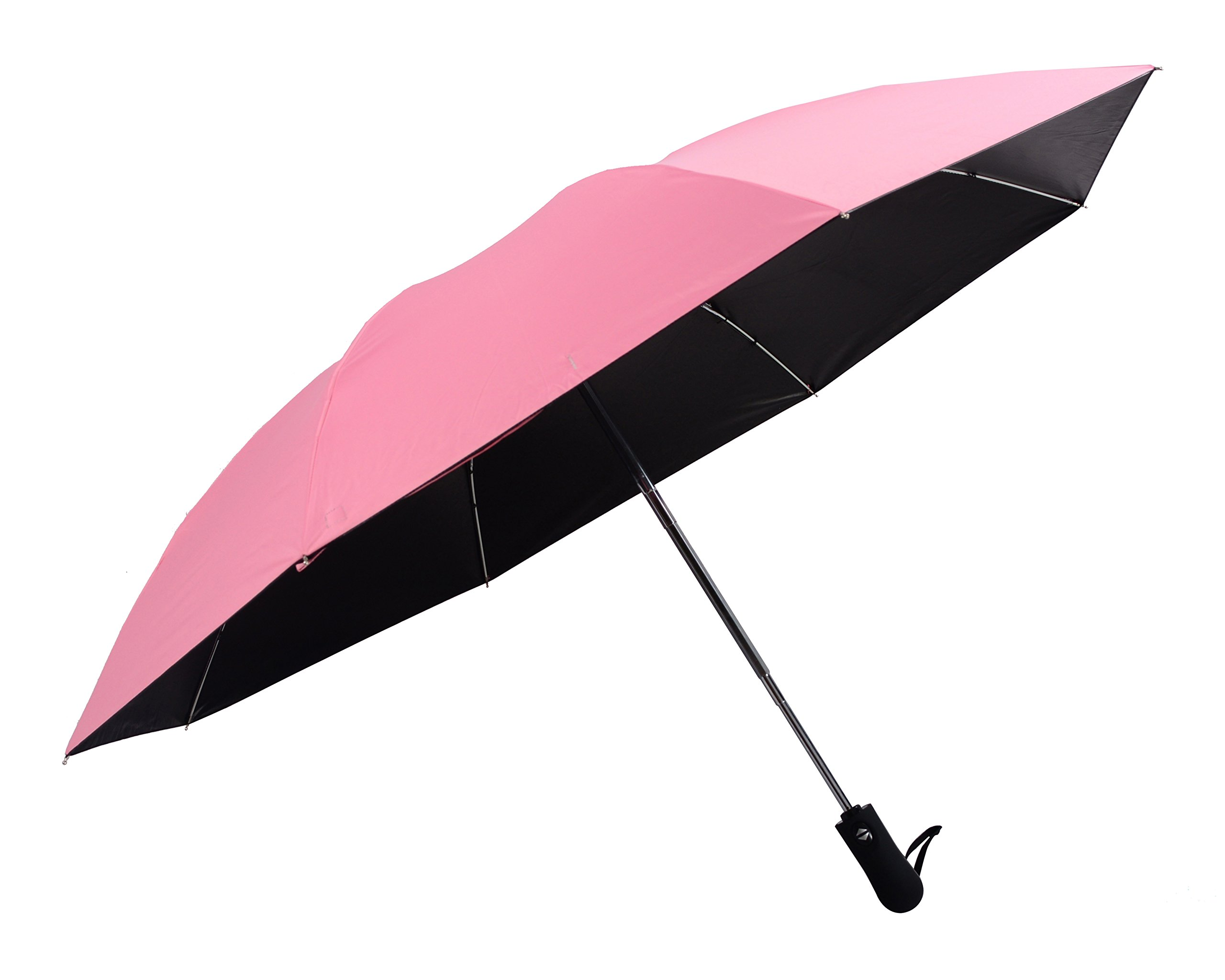 HappyGO Automatic Sun Protection UV reverse Travel & Home Inverted Umbrella(Rose Red,8Ribs)