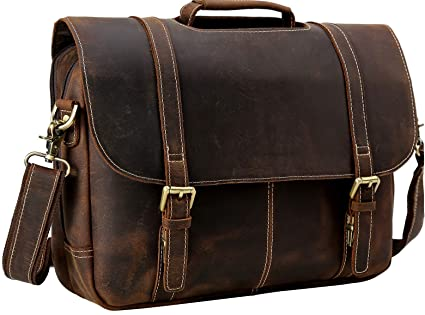3ef0c5248556 Image Unavailable. Image not available for. Color  Flap Over Messenger Bag  Leather ...