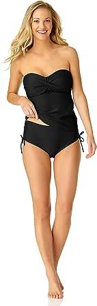 Catalina Women's Swim Women's Twist Front Bandeau Tankini Swimsuit
