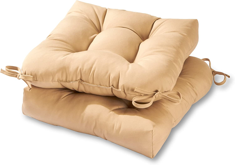 Greendale Home Fashions AZ6800S2-STONE Sanddollar Outdoor Dining Seat Cushion (Set of 2)