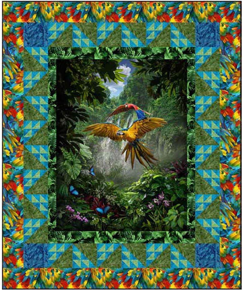 Jungle Parrots Quilt Pattern by CastillejaCotton