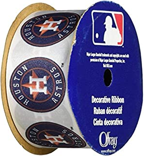 """product image for Offray MLB Houston Astros Fabric, 1-5/16"""" X 9FT Ribbon"""