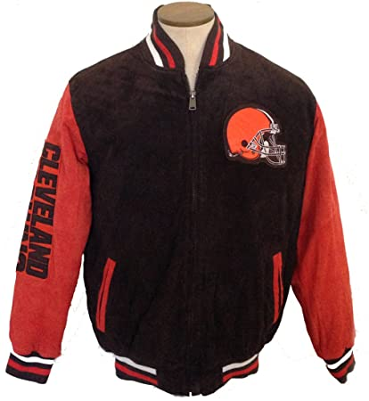 d16b3696 Amazon.com : Cleveland Browns Jacket Suede leather NFL Browns coat ...