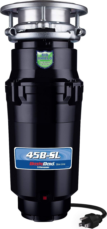 Waste Maid 10-US-WM-458-SL-3B 3/4HP Slim-Line Garbage Disposal, Black