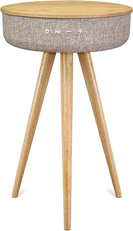 Mesa de centro Victrola de madera con altavoz Bluetooth: Amazon.es ...